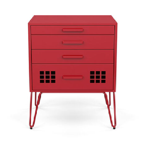 Cormac End Table, Red ,  , large