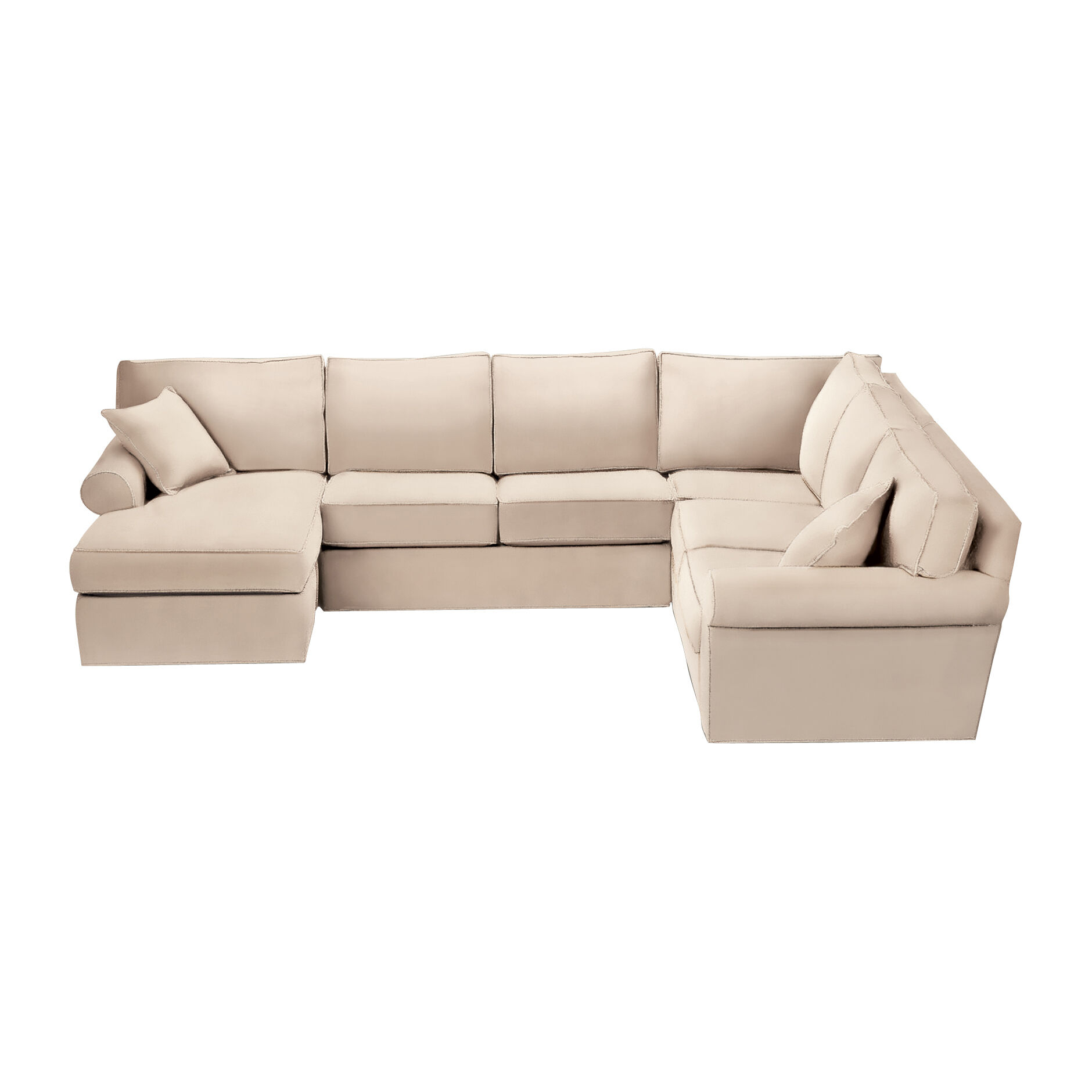 Superior Retreat Roll Arm Sectional With Chaise , , Large ...