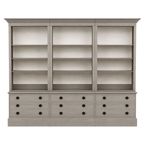 Villa Triple File Bookcase Product Tile Image 139240G