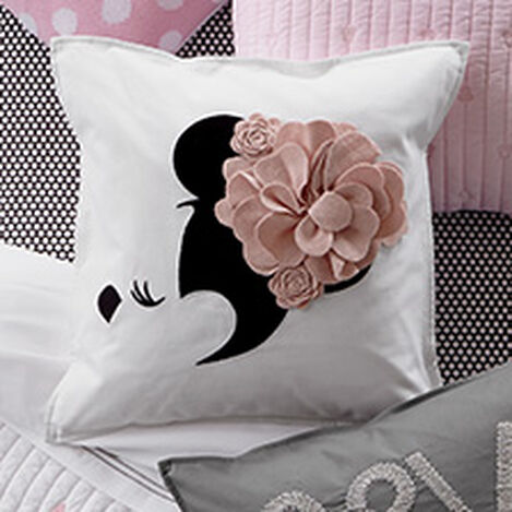 Minnie Mouse Floral Flourish Pillow, Petal ,  , hover_image