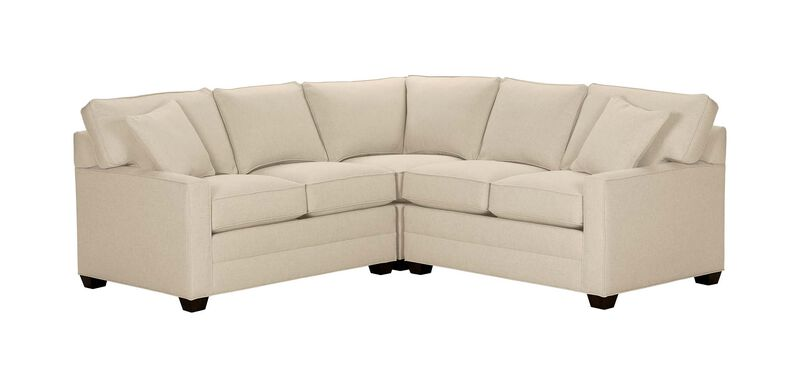 Bennett Track-Arm Three Piece Sectional, Quick Ship , Palmer Pearl (Q3039), chenille , large_gray