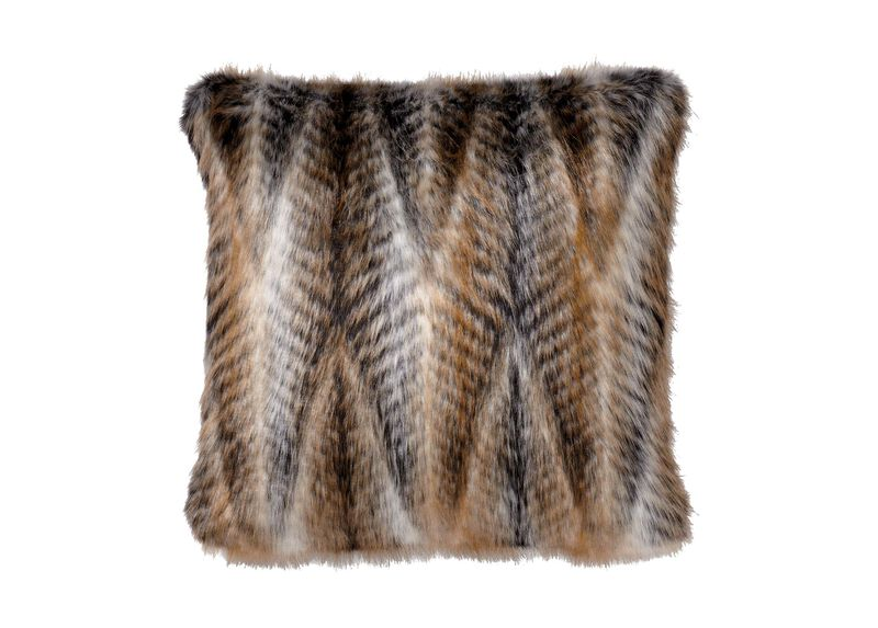 Faux Fur Chevron Pillow | Tuggl