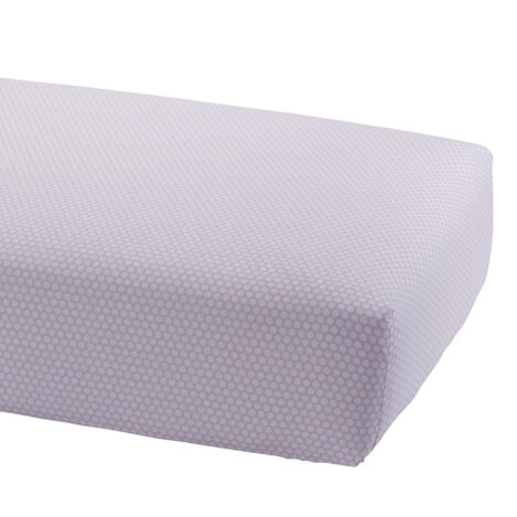Dotty Crib Sheet, Petal ,  , large