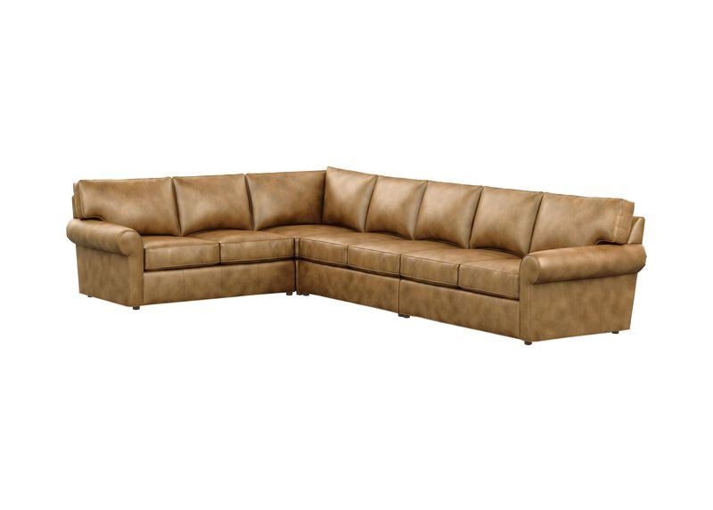 Retreat Leather Large Roll-Arm Sectional