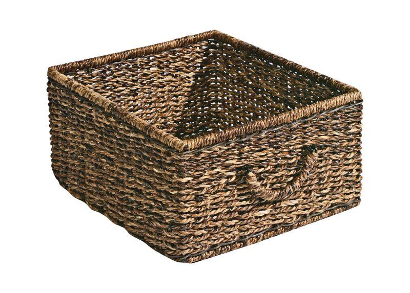 Dark Abaca Storage Basket ,  , large_gray
