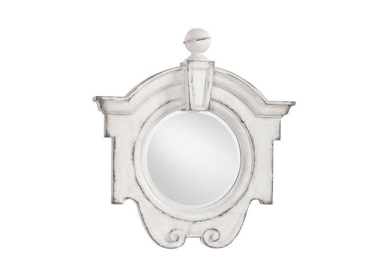 Antique White Gisele Mirror ,  , large_gray