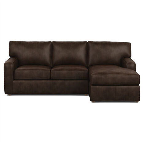 Retreat Track-Arm Leather Two-Piece Sectional with Chaise Product Tile Image 727675G1