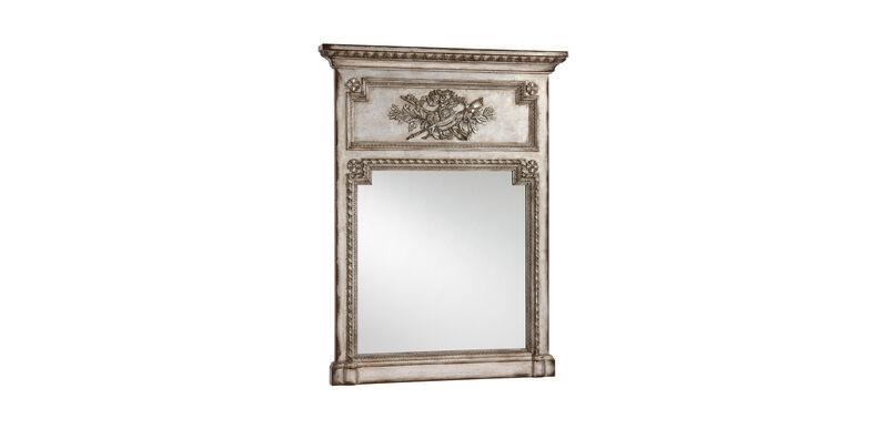 Antique Silver Madeleine Trumeau Wall Mirror