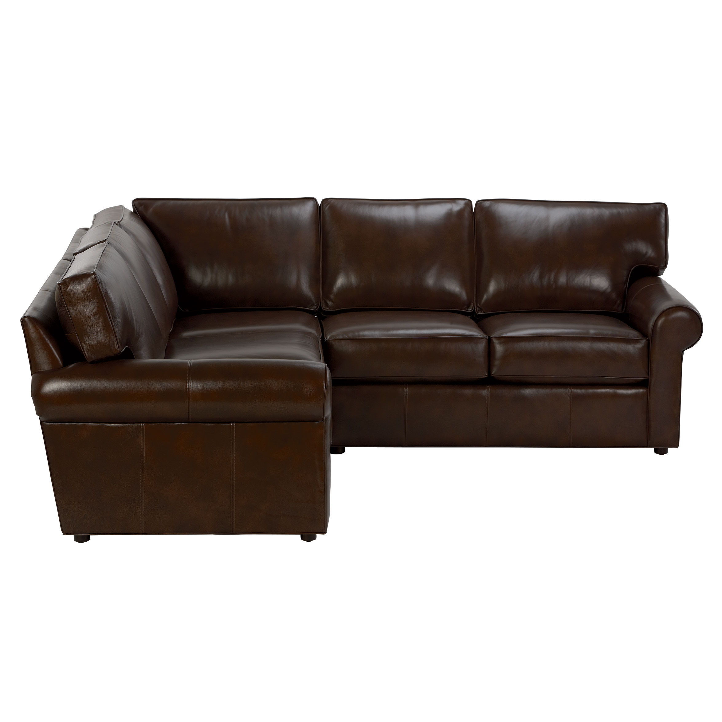 Retreat Roll-Arm Leather Sectional   large  sc 1 st  Ethan Allen : leather sectional - Sectionals, Sofas & Couches