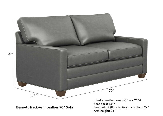 Pleasant Bennett Track Arm Leather Sofas Quick Ship Sofas Pdpeps Interior Chair Design Pdpepsorg