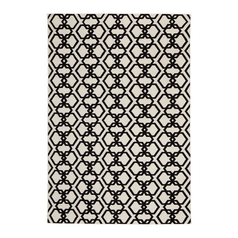 Interlock Rug, Ivory/Black Product Tile Image 041217