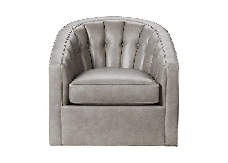 Rondo Swivel Leather Chair