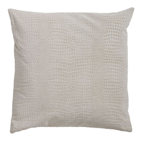 Embossed Velvet Pillow, Taupe Product Tile Image 065665   TAU