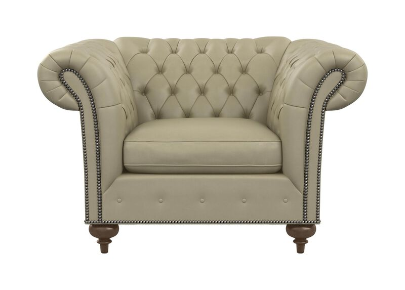 Mansfield Leather Chair ,  , large_gray