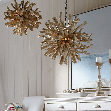 Large Minetto Wood Chandelier Product Tile Hover Image 090535