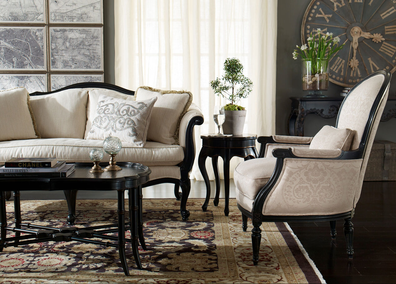 living room accent furniture black five leg table accent tables ethan allen 12437
