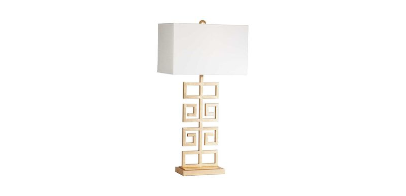 Greek Key Table Lamp, Gold