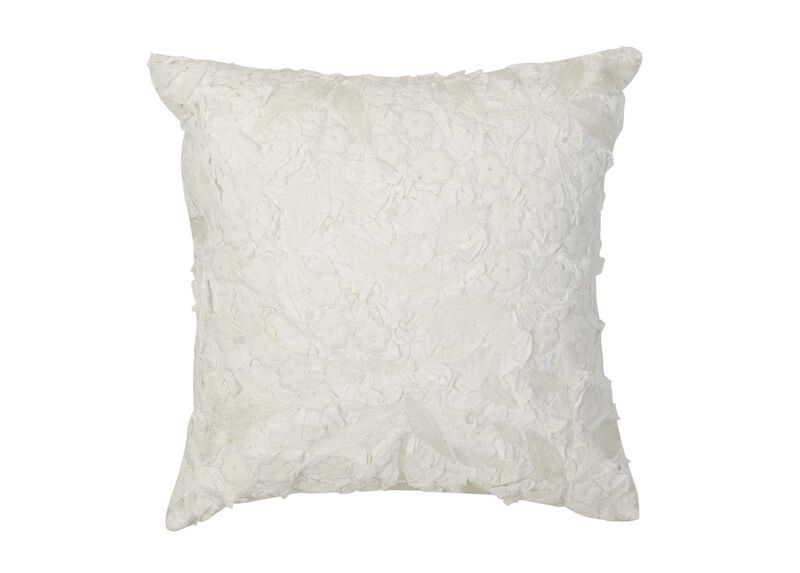 Embellished Floral Pillow