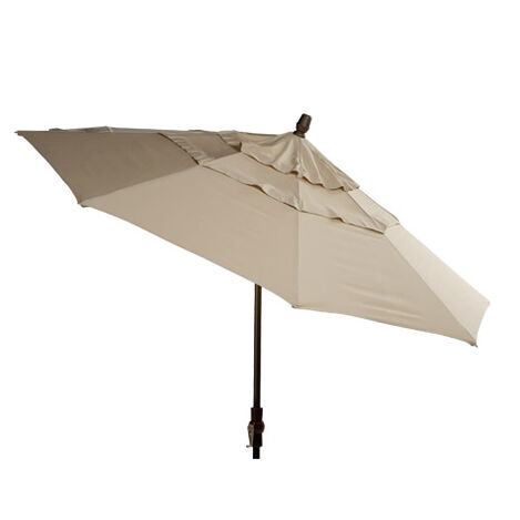 Khaki Round Market Umbrella ,  , large