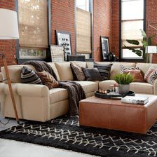 Retreat Roll Arm Four Piece Sectional, Quick Ship