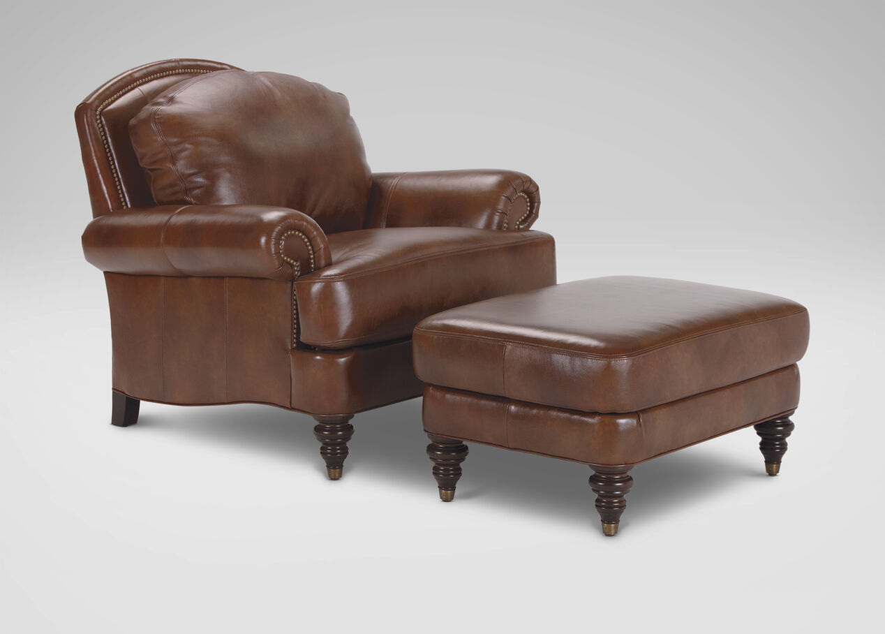 Ethan Allen Leather Chair Chairs Seating