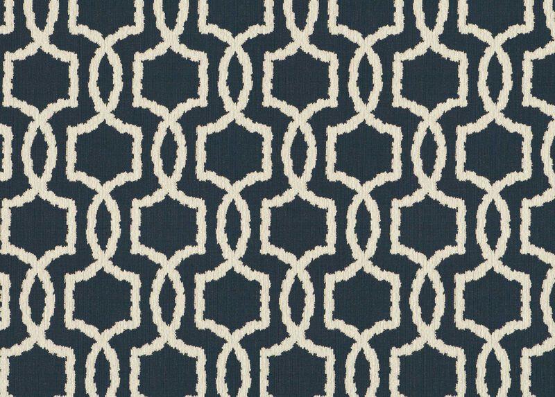 Ezra Navy Fabric