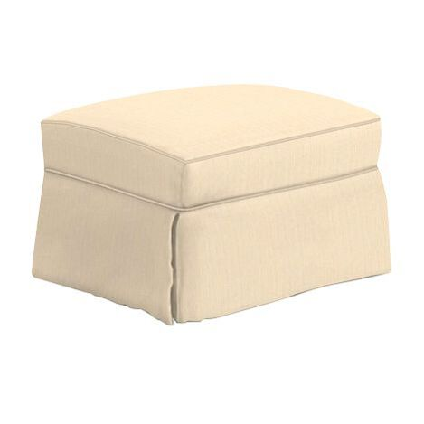 Bennett Slipcovered Ottoman ,  , large