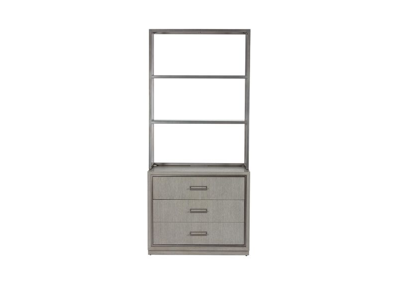 Faraday Two-Drawer File Cabinet with Hutch