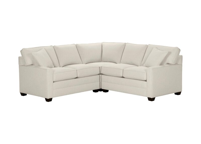 Bennett Track-Arm Three Piece Sectional, Quick Ship , Hailey Ivory (Q1032), solid texture , large_gray