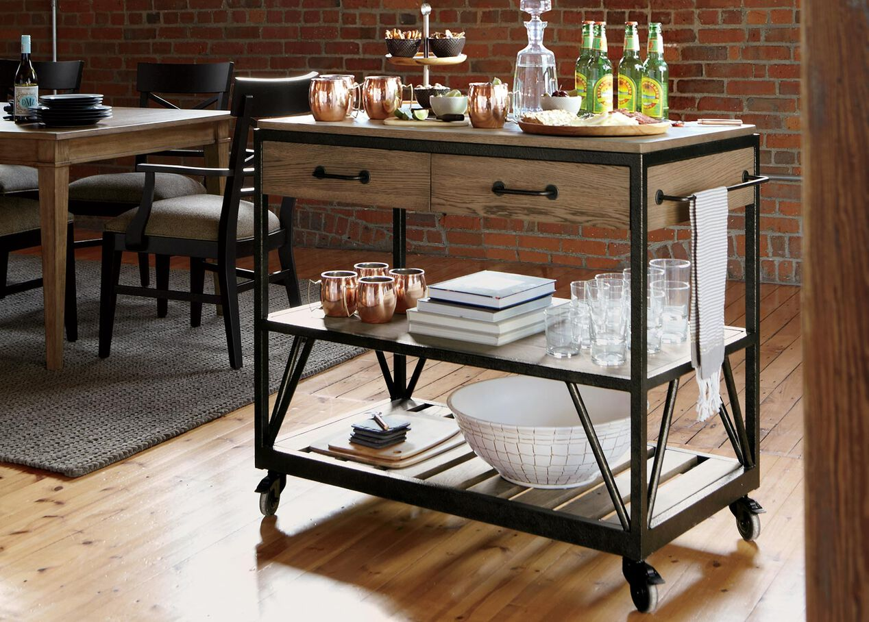 Beam Serving Cart  Buffets, Sideboards & Servers  Ethan. Decorative Window Treatment Ideas. Living Room Set For Sale. Art For Baby Room. Counter Height Dining Room Chairs. Curtains Ideas For Living Room. Mirrored Decor. Living Room Wall Cabinets. Prom Decor