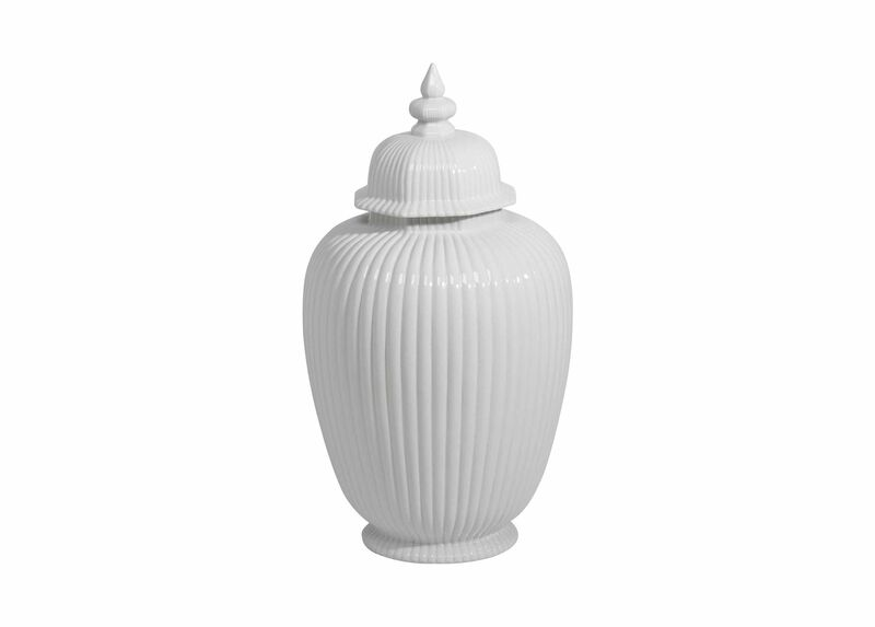 Large White Temple Jar