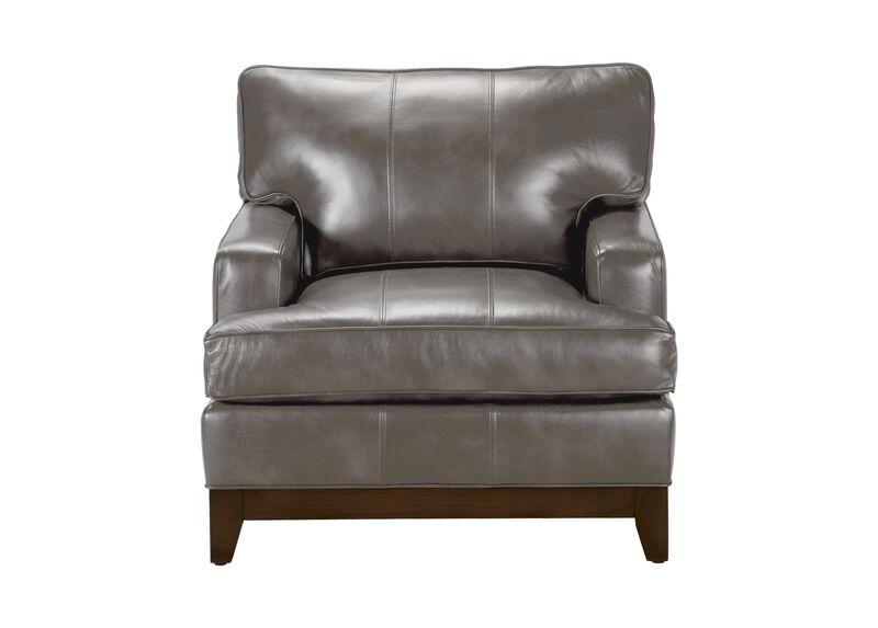 Arcata Leather Chair, Quick Ship