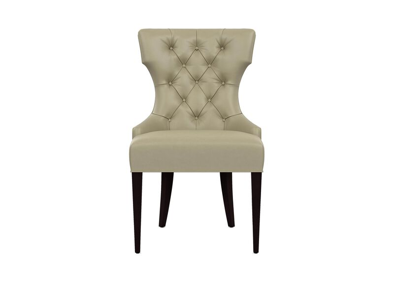 Claudia Leather Dining Chair ,  , large_gray