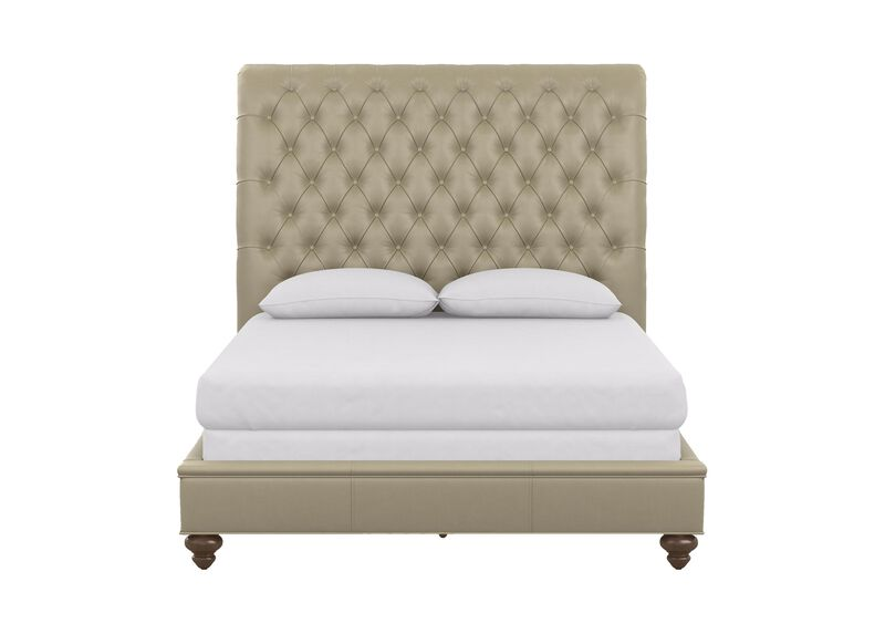 Haven Leather Bed with Low Footboard ,  , large_gray