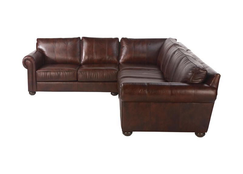 Richmond Leather Four-Piece Sectional, Old English Chocolate