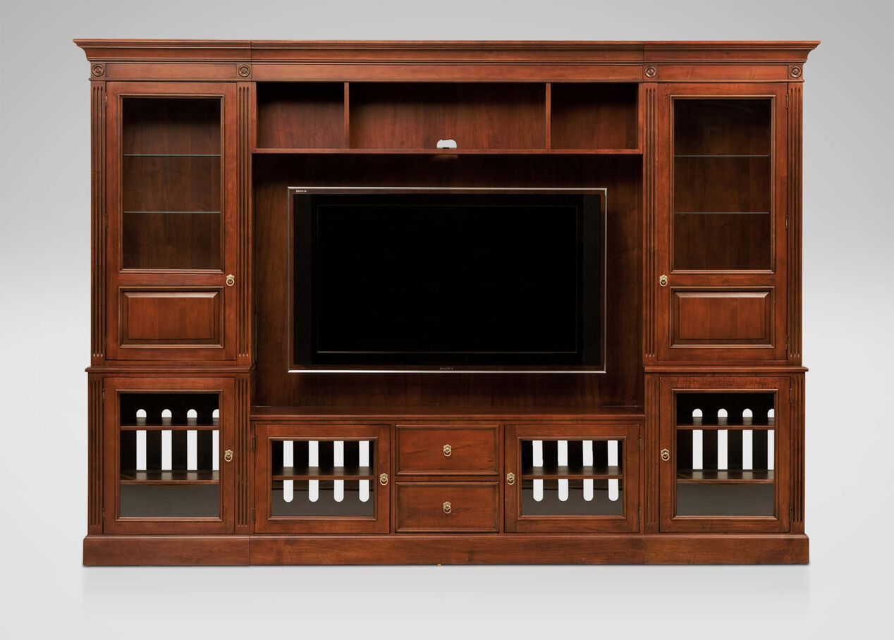 living room cabinets with doors robinson glass door media center media cabinets 18230
