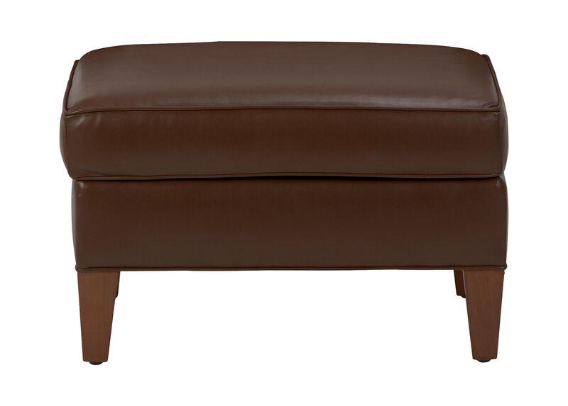 Adam Leather Ottoman