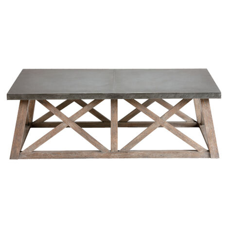 Bruckner Metal Top Coffee Table Large
