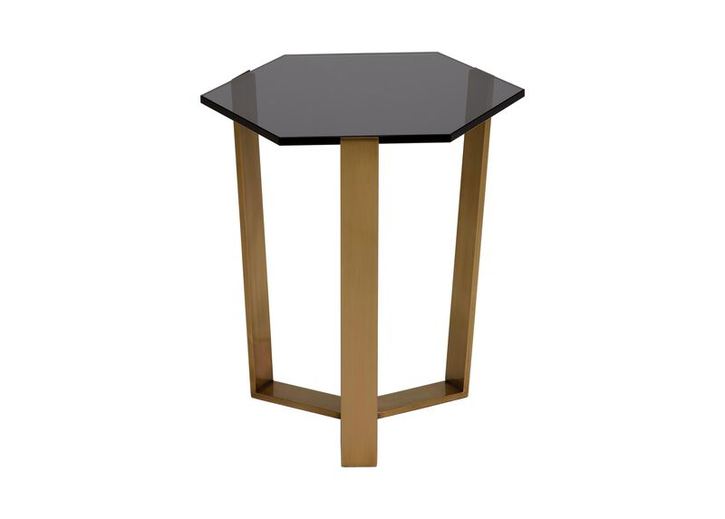 Pearle Smoky Glass Accent Table