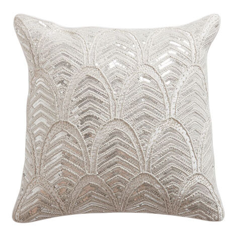 Art Deco Beaded Pillow ,  , large