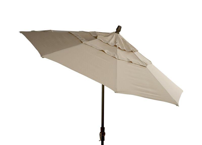 Khaki Round Market Umbrella
