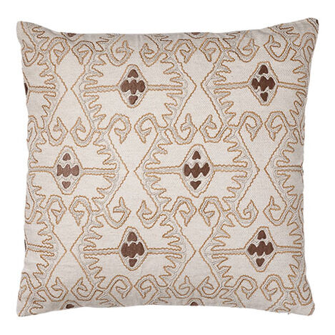 Taupe Embellished Pillow ,  , large