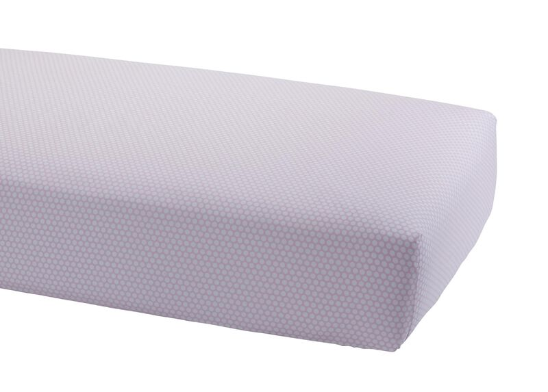 Dotty Crib Sheet, Petal