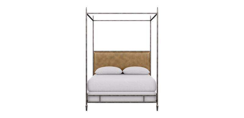 Lincoln Leather Upholstered Poster Bed