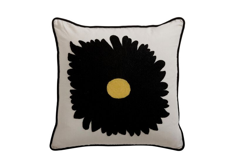 Gerbera Daisy Crewel Pillow ,  , large_gray