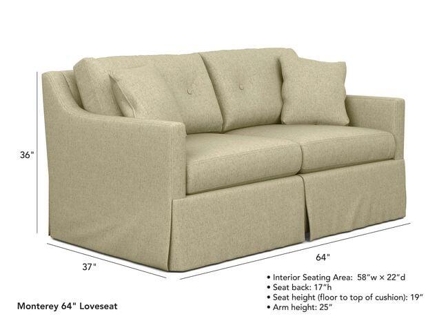 Groovy Monterey Skirted Sofa Sofas Loveseats Ethan Allen Uwap Interior Chair Design Uwaporg