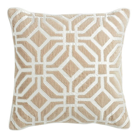 Geometric Embellished Pillow Product Tile Image 065685   IVO