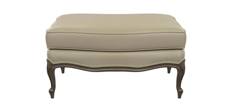 Versailles Leather Ottoman