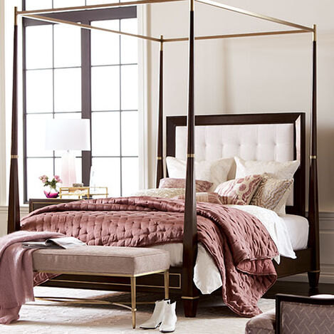 Andover Upholstered Poster Bed Product Tile Hover Image 395630