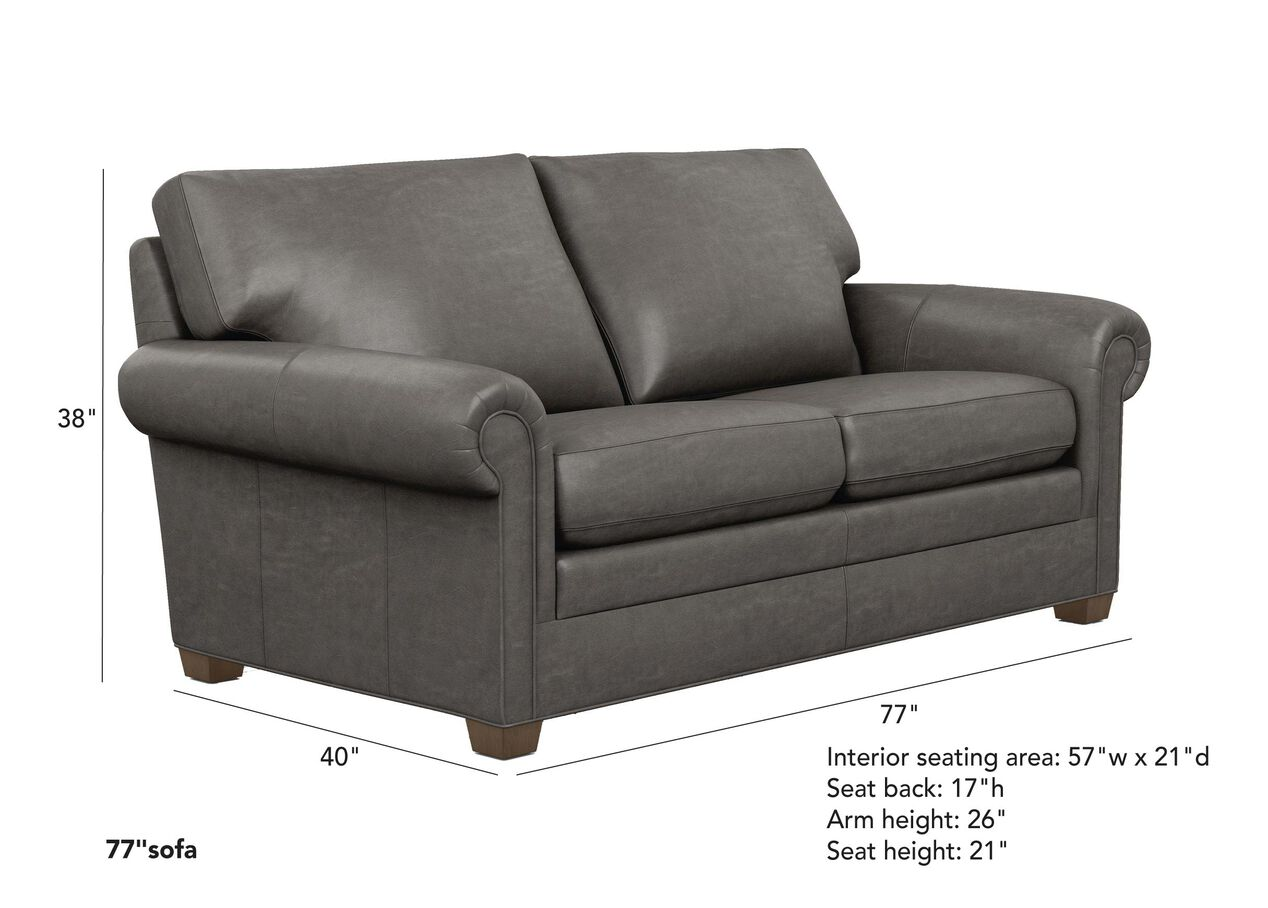 Conor Leather Sofa The Conor Collection Ethan Allen